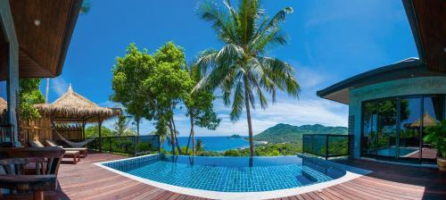 龟岛围墙泳池酒店别墅红砖高地别墅图片