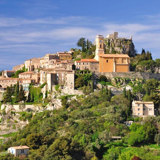 埃兹的中世纪村庄