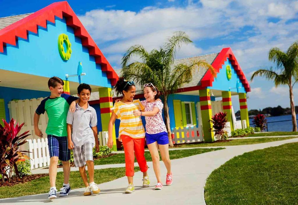 入住佛罗里达州乐高乐园®度假酒店的儿童