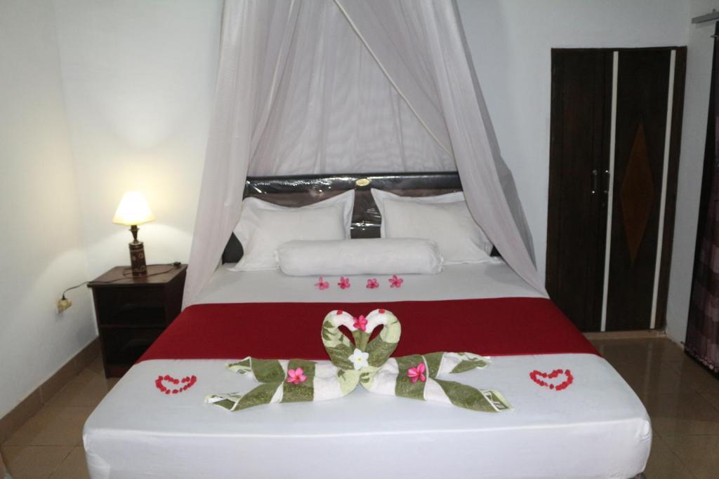 雅言民宿客房内的一张或多张床位