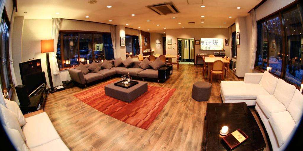 森野旅舍 - 白马村酒廊或酒吧区