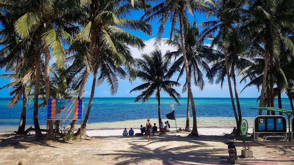 旅馆旁或附近的海滩