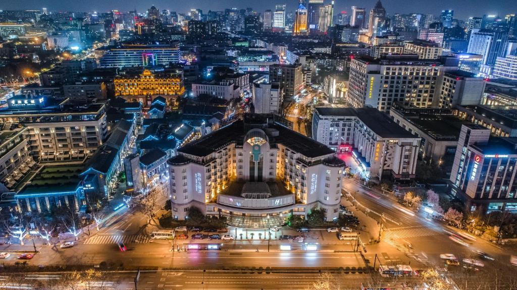杭州海华大酒店鸟瞰图