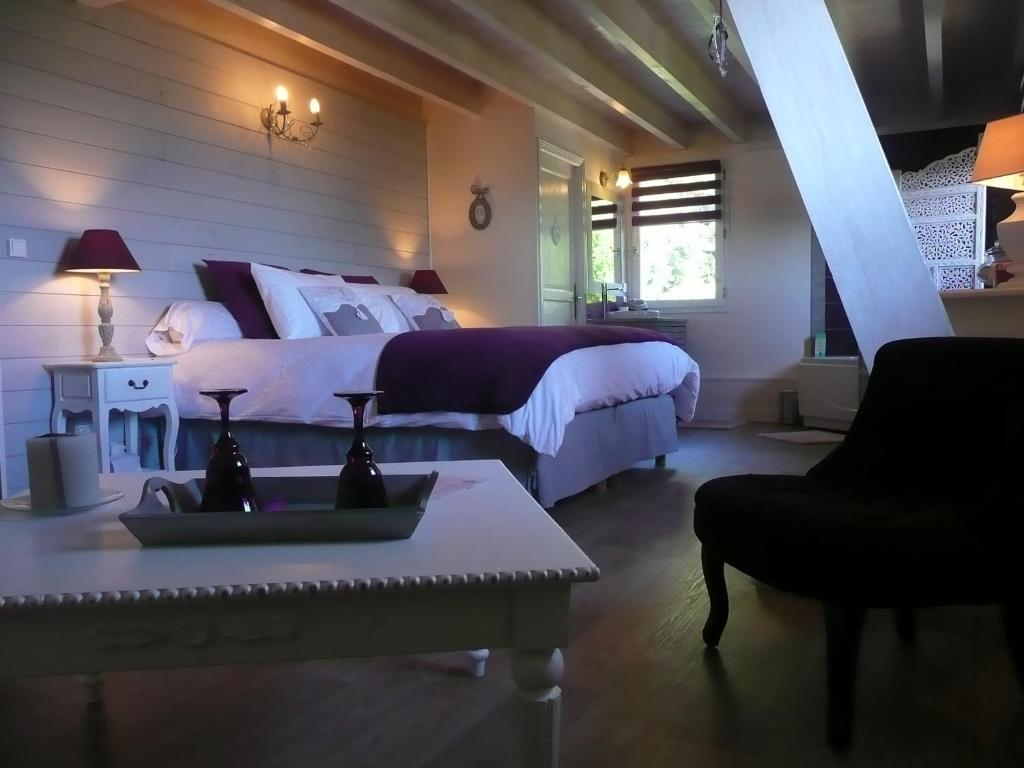 云上拉美甚酒店客房内的一张或多张床位