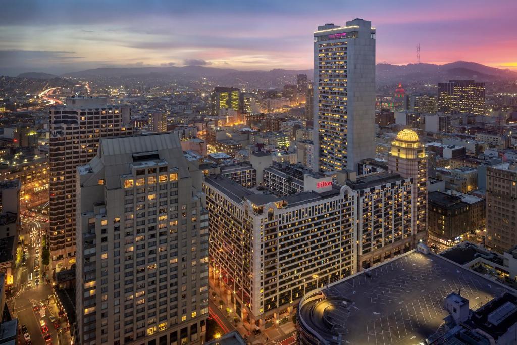 旧金山联合广场希尔顿酒店鸟瞰图