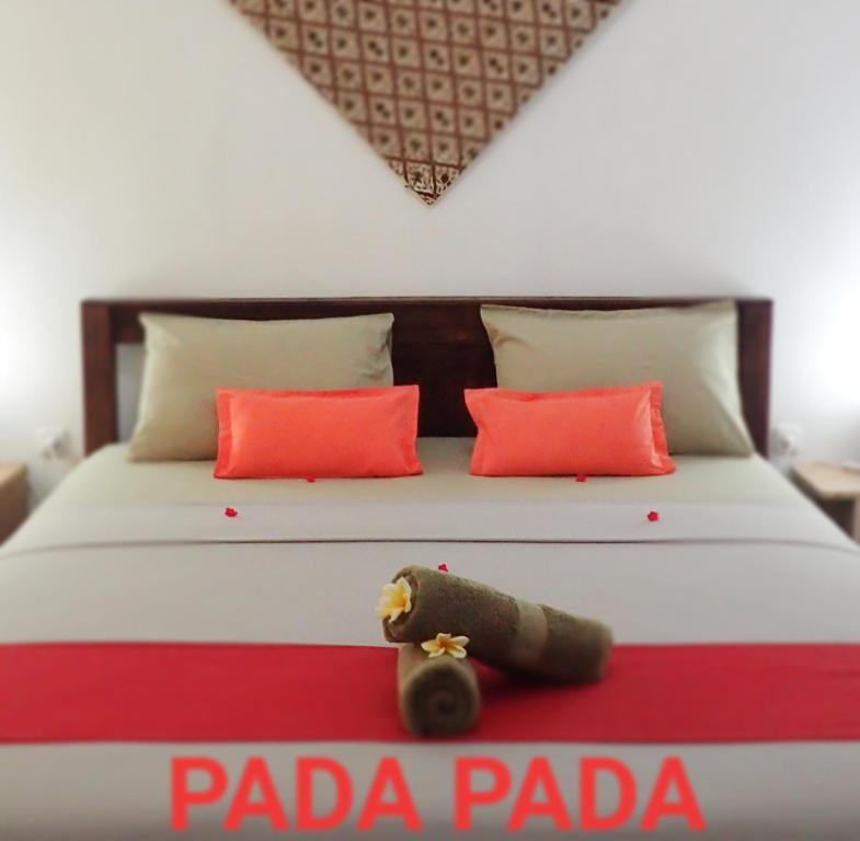 Pada Pada Gili Air客房内的一张或多张床位