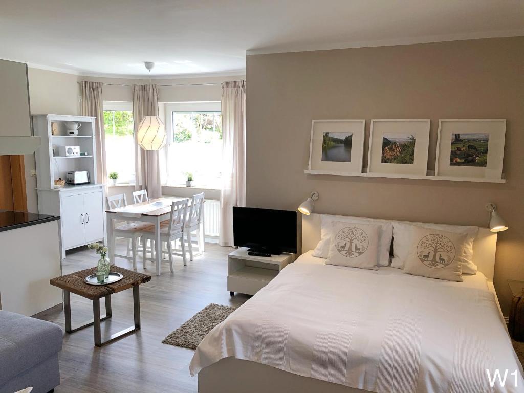 Ferienwohnung Kraft客房内的一张或多张床位