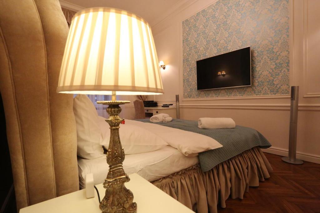 蓝莓公寓客房内的一张或多张床位
