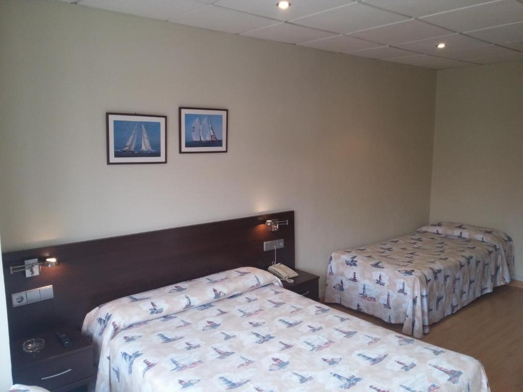 瑙提考酒店客房内的一张或多张床位