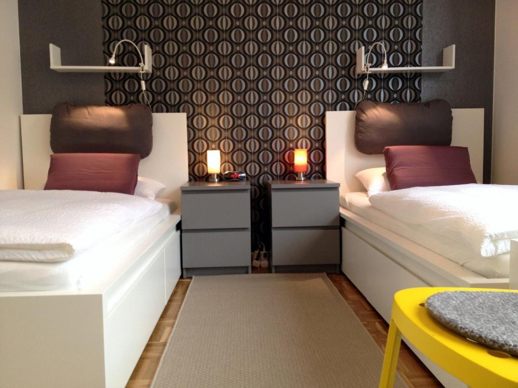 克瑞斯雷克林豪森赫腾公寓客房内的一张或多张床位