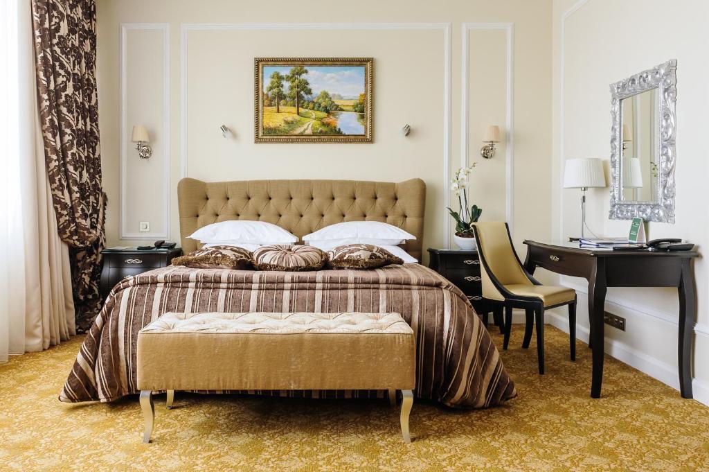 维嘉依兹马洛沃酒店及会议中心客房内的一张或多张床位