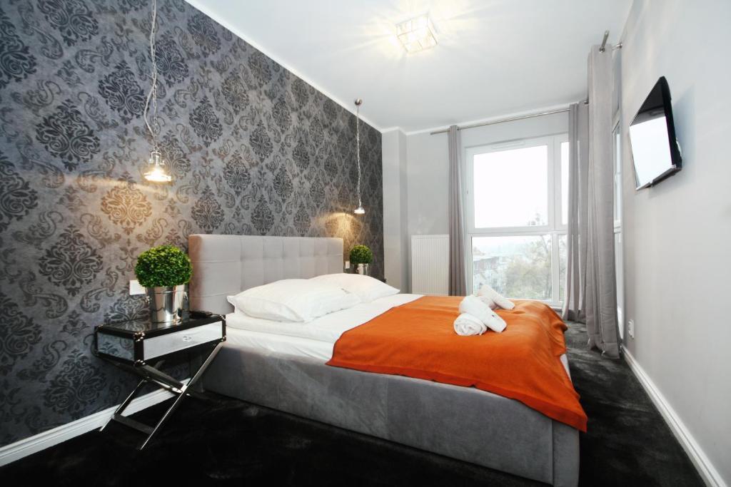 丽文高档公寓客房内的一张或多张床位