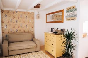 木阁楼公寓的休息区