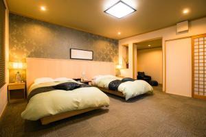 旅亭松叶屋客房内的一张或多张床位