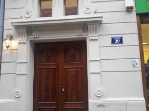 蓝莓公寓的门面或入口