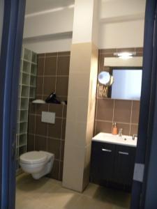 城市中心公寓的一间浴室