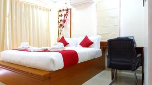 Blobb Serviced Aparments客房内的一张或多张床位