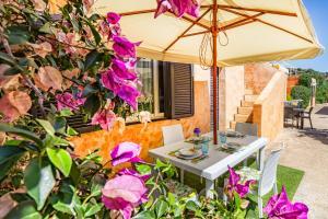 Appartamento con Spiaggia Privata Wi-fi Parking的庭院或其他户外区域