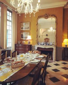 德克莱布瓦庄园住宿加早餐旅馆餐厅或其他用餐的地方