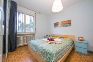 Pazzallo Apartment Sleeps 3客房内的一张或多张床位
