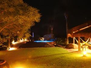 Sítio Rodamonte外面的花园