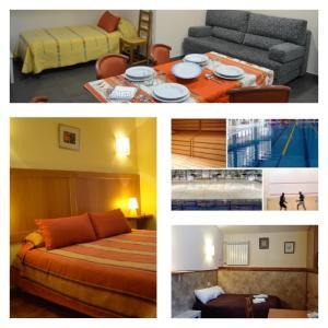 里姆普公寓式酒店客房内的一张或多张床位