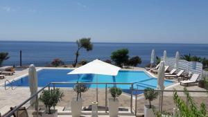 埃罗萨萨摩奇海滩公寓套房酒店内部或周边泳池景观