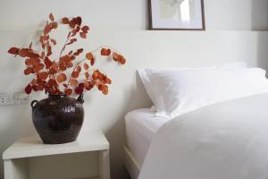 厦门鼓浪屿黑檀酒店客房内的一张或多张床位