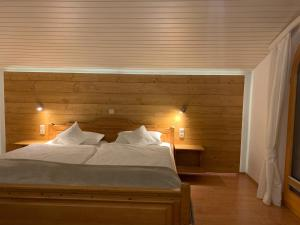 Ferienwohnung am Römerweg Wald客房内的一张或多张床位