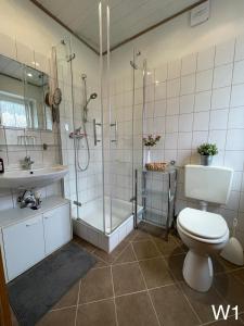 Ferienwohnung Kraft的一间浴室