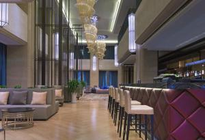 青岛威斯汀酒店餐厅或其他用餐的地方