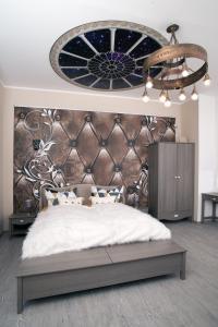 Designpension Idyll Nr2 Hotel Garni客房内的一张或多张床位