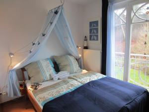 Ferienwohnung Waldblick Nr.18客房内的一张或多张床位