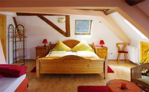 Gasthaus Korfu客房内的一张或多张床位