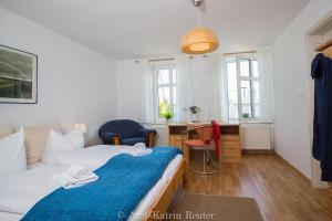 Ferienhaus am Ufer客房内的一张或多张床位