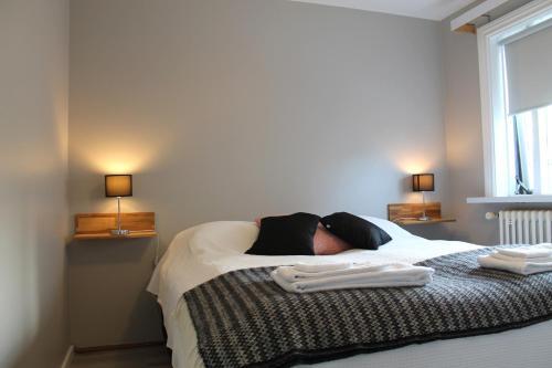 Reynisstaðir客房内的一张或多张床位