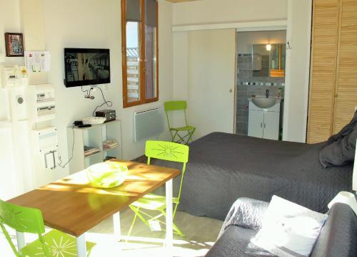 Studio RIGA客房内的一张或多张床位