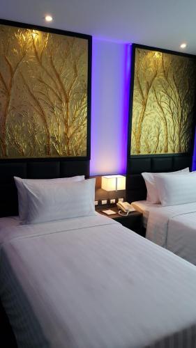 新星快捷酒店客房内的一张或多张床位
