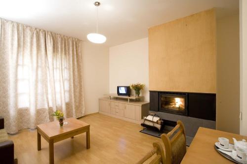 马利纳公寓酒店的休息区
