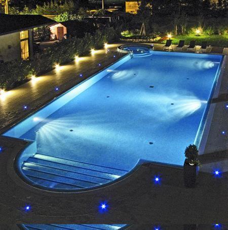 维多利亚酒店内部或周边泳池景观