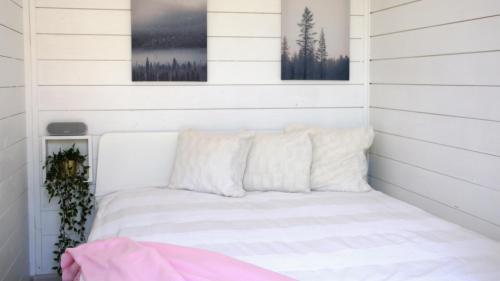 Happyfugu Domki Letniskowe客房内的一张或多张床位