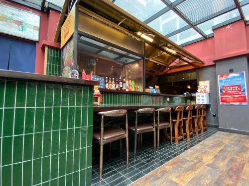 天津戈萨国际青年旅舍酒廊或酒吧区