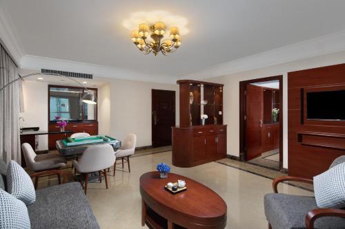 文昌南国温德姆花园酒店的休息区