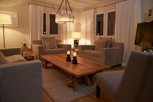 拉法亚莫勒胡斯里度假屋的休息区