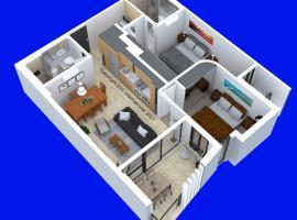 南亚拉宝石公寓 - 2床、2浴室、停车场和无线上网