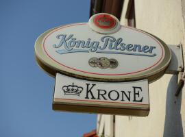 Landgasthof & Hotel KRONE Eischleben,位于Ichtershausen的酒店