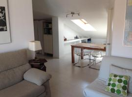 Modern apartment attic