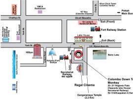 科伦坡市中心猴子背包客旅馆
