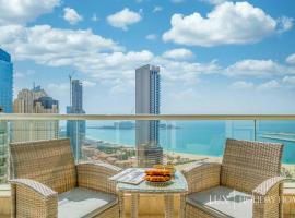 LUX - The Dubai Marina Sea View Suite,位于迪拜的公寓