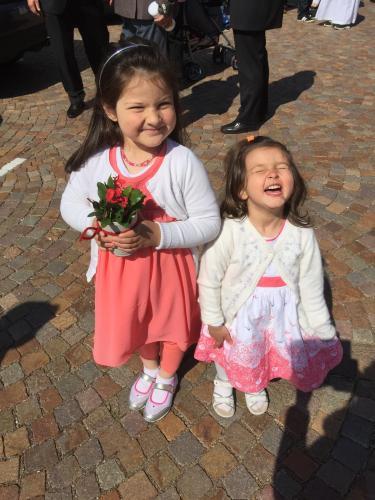 Die Junior-Gastgeberinnen Magdalena und Anna Lechner